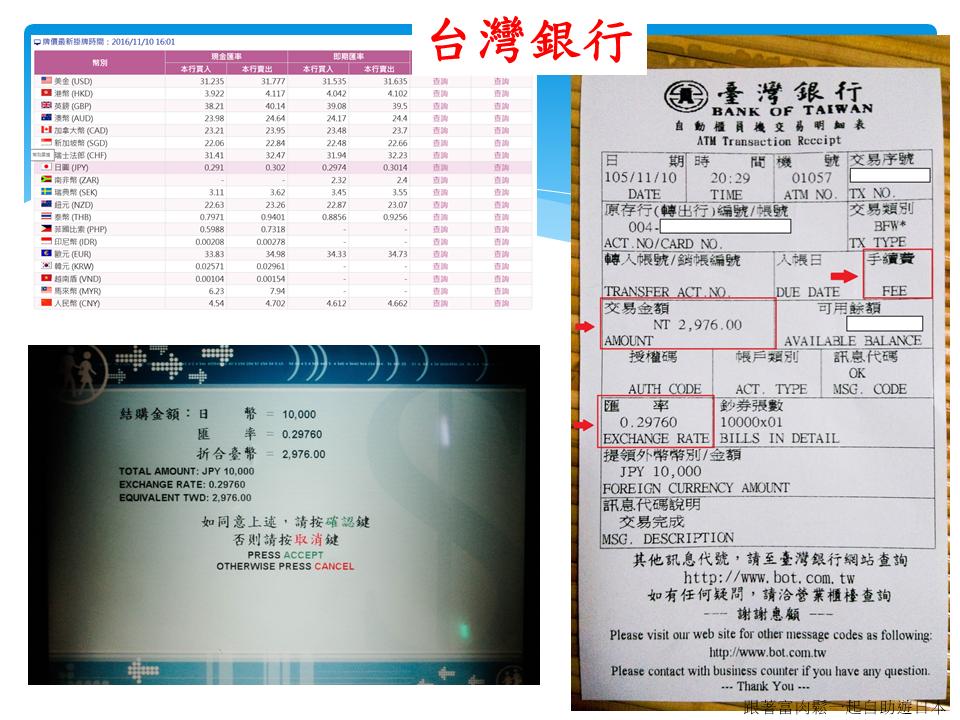 自助教學文章 臺灣銀行外幣atm日幣兌換教學 跟著富肉鬆一起自助遊日本