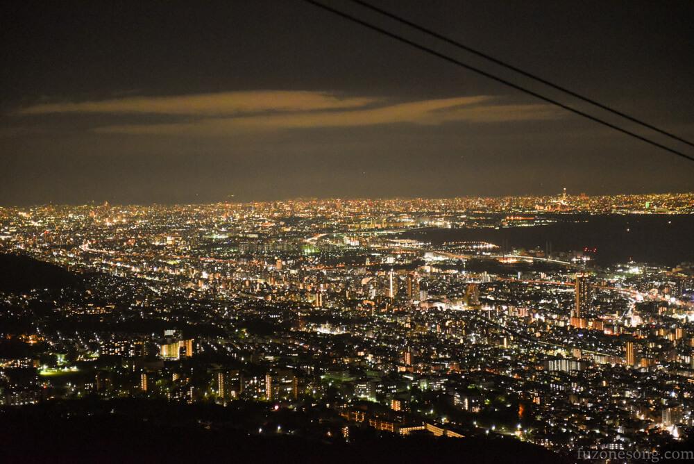 摩耶山纜車夜景
